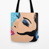 aaliyah Tote Bags featuring Aaliyah in Music by NelxArt