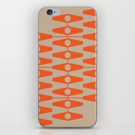 abstract eyes pattern orange tan iPhone Skin