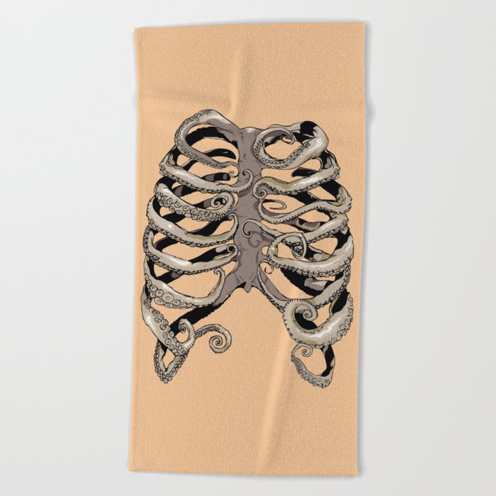 Your Rib is an Octopus Beach Towel