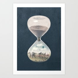 There's A City Where Time Stopped Long Ago Art Print