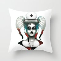 harley Throw Pillows featuring Harley ! by Alejandro Dayer