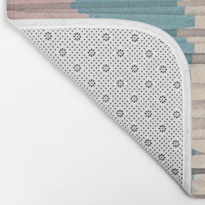 Colorful Grunge Stripes Bath Mat