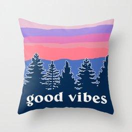 Good Vibes Sunset Throw Pillow