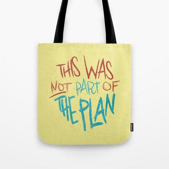 THE PLAN Tote Bag