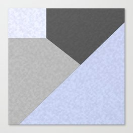 Gray , blue , patchwork Canvas Print