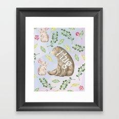 Bear Hug - Cute Animal Love Framed Art Print