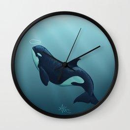 """Subantarctic"" by Amber Marine ~ Type D Orca, Art (Copyright 2014) Wall Clock"