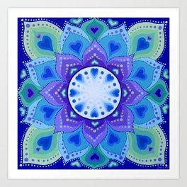 White Light Within Mandala Art Print