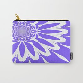 The Modern Flower Periwinkle Lavender Carry-All Pouch