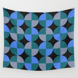 NeonBlu Squares Wall Tapestry