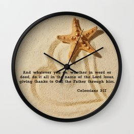 Colossians 3:17 Wall Clock