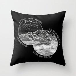 mountains-biffy clyro (black version) Throw Pillow