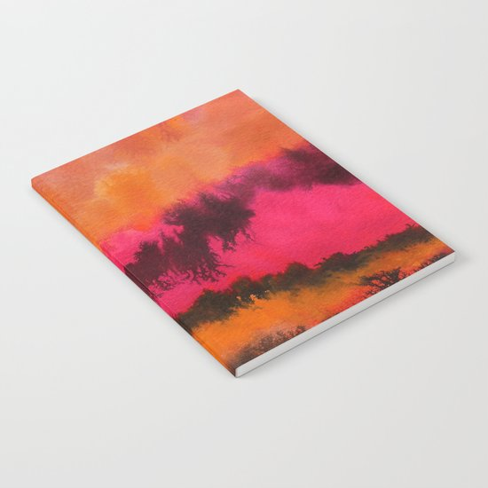 Watercolor abstract landscape 26 Notebook