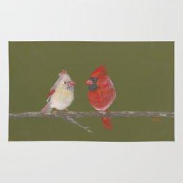 Pastel Cardinals Rug