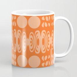 Orange And Peach Pattern Coffee Mug