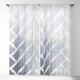 winter herringbone Sheer Curtain