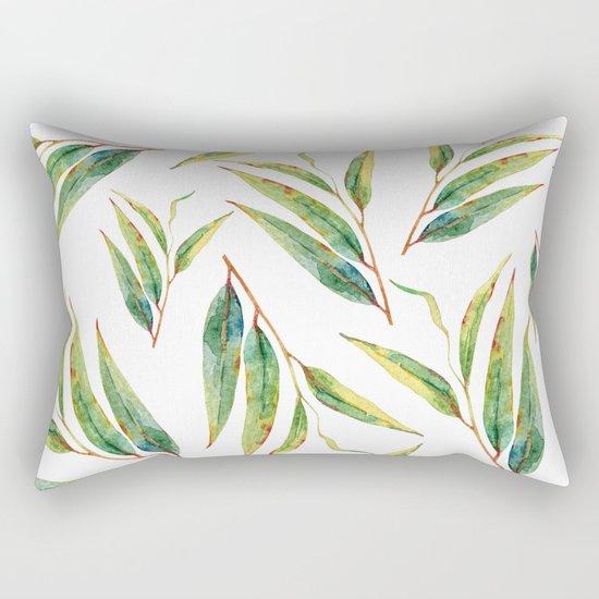 leaves watercolor pattern Rectangular Pillow