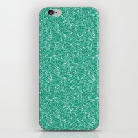 aviation iPhone & iPod Skins featuring Schoolyard Aviation Green by Dianne Delahunty
