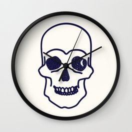 Retro Starry-Eyed Skull Wall Clock