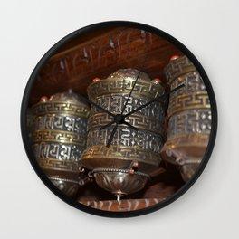 Tibetan Holy Prayer Wheels Wall Clock