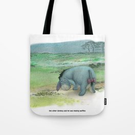 waffles and grievances Tote Bag