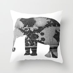 Elephant (The  Living Things Series)  Throw Pillow