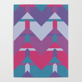 Cool Waves #society6 #violet #pattern Poster