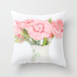 Pink Carnations 2 Throw Pillow