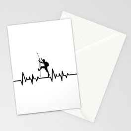 Heartbeat Rock Climbing - Love Climbing Stationery Cards