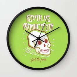 Fuck The Fame Wall Clock
