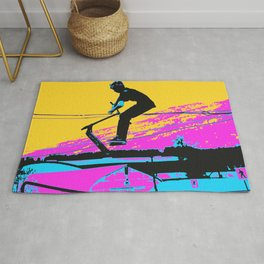 Free Falling - Stunt Scooter Rider Rug