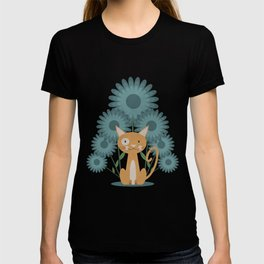 Cat in the Flowerfield T-shirt