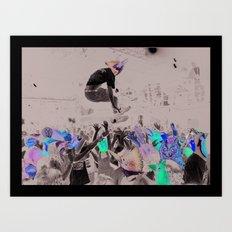 Twitter Mob Art Print