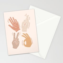 I Don't Know What to Do With My Hands Stationery Cards