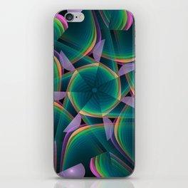 Tumbling patterns, fractal abstract art iPhone Skin