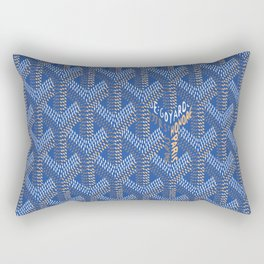 Goyard Blue Rectangular Pillow
