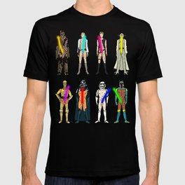 Glow in the Dark Naughty Starwars Lightsabers  T-shirt