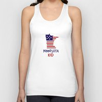 minnesota Tank Tops featuring Minnesota Kid by raineon