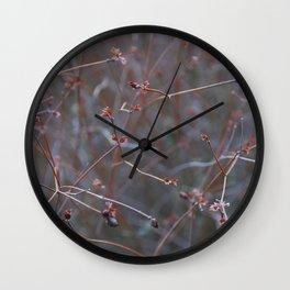 Autumn flowers Wall Clock