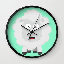 Cute Sheep kawaii Bxu64 Wall Clock
