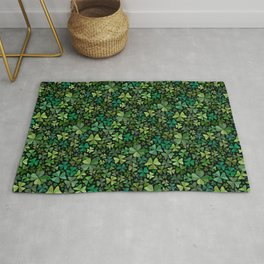 Luck in a Field of Irish Clover Rug