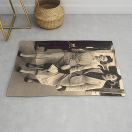 Caught off guard by a street photographer - the war years Rug