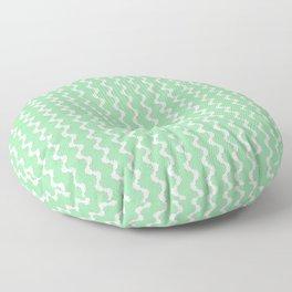 Mint Green Zig Zag Pattern Floor Pillow