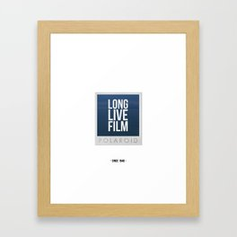 Long Live Film  Framed Art Print