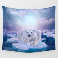mandie manzano Wall Tapestries featuring Power Is No Blessing In Itself (Be COOL - Protect the Planet)  by soaring anchor designs