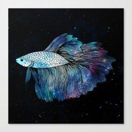 Betta Fish Galaxy Canvas Print