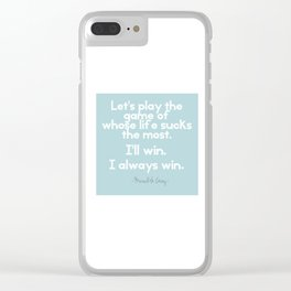 Whose life Clear iPhone Case