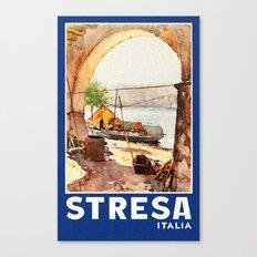 Vintage Stresa Italy Travel Canvas Print