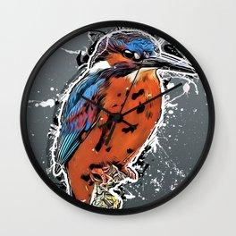 kingfisher bird art #kingfisher Wall Clock