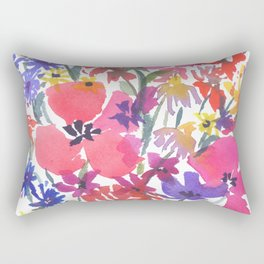 Little Pink Poppies Rectangular Pillow